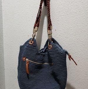 The Sak Indio crochet purse blue